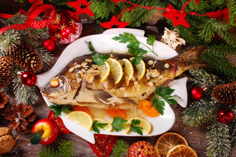 Vianočný kapor s mandľami a citrónom