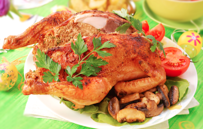 Gazdovské kura s plnkou
